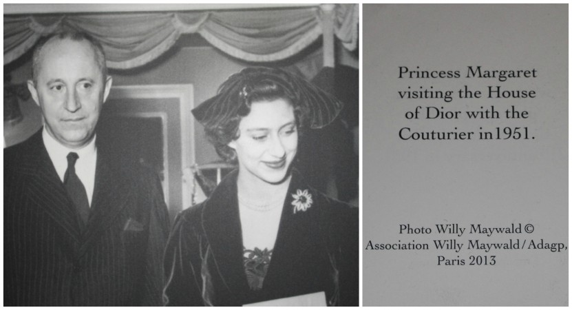 Princess Margaret visiting House of Dior