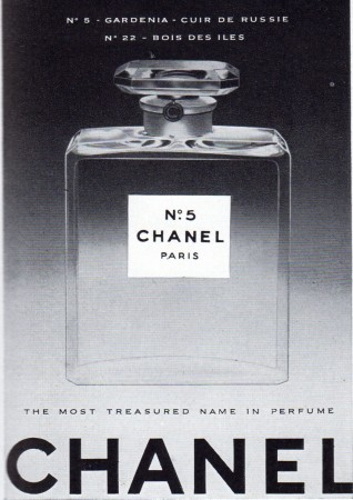 Chanel advert from Vogue 1956