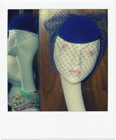 Gloria royal blue net hat