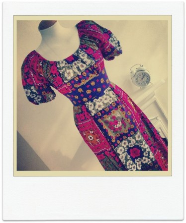 LSV Patchwork 70s Maxi Dress