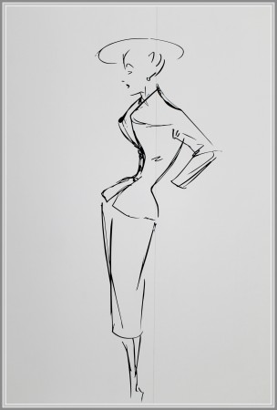 Sketch by Christian Dior