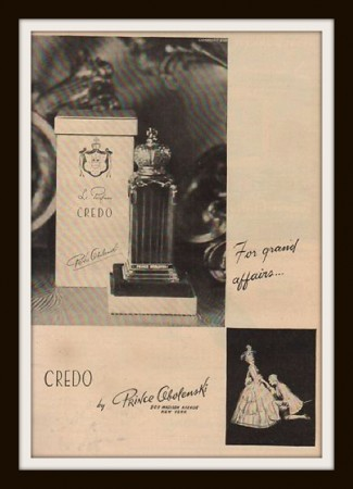 Prince Obolenski perfume Credo on ebay