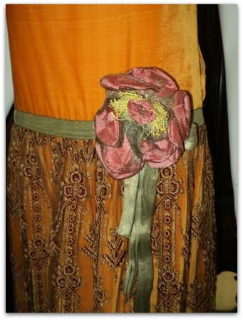 bellasoiree art deco dress close up