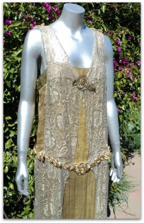 bellasoiree metal lace dress