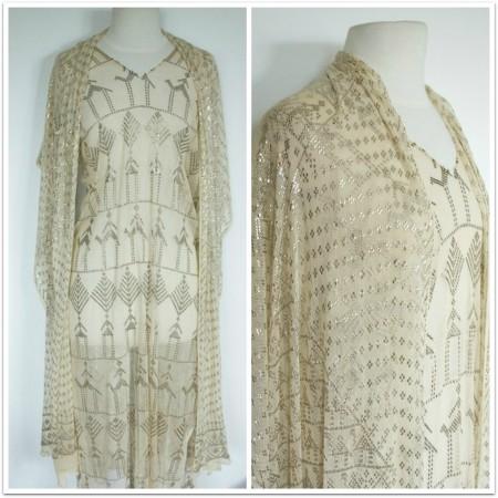 truevaluevintage dress with shawl 1
