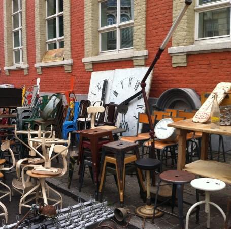 Clocks and stools