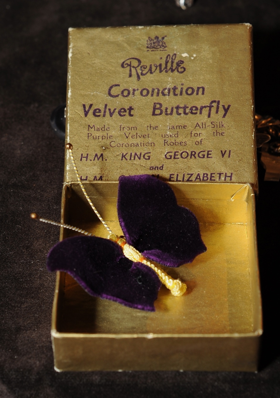 Kim M Coronation butterfly brooch