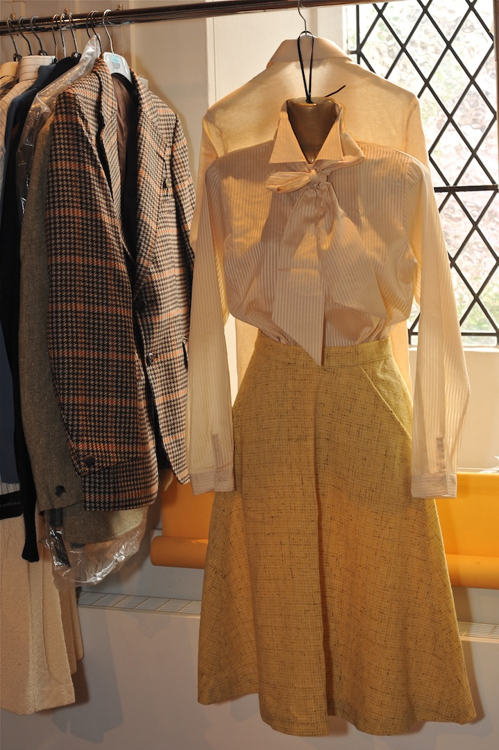 Rachel pussy bow blouse and skirt