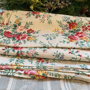 Vintage Textile Floral Roses