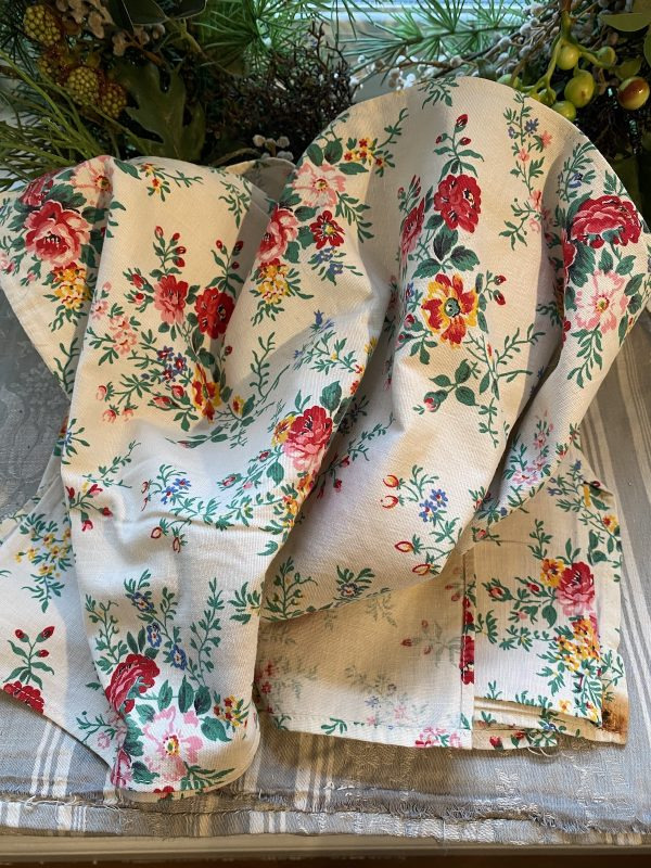 Vintage Floral Roses Fabric
