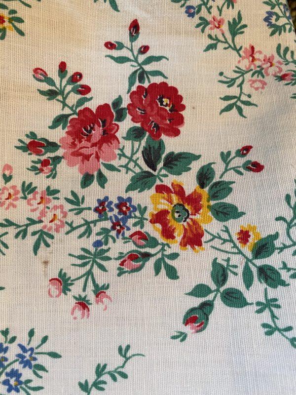Vintage Floral Roses Textile Close Up
