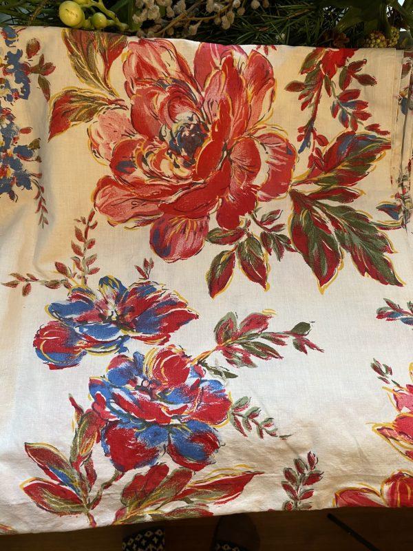 Vintage Large Floral Textile close up of flower