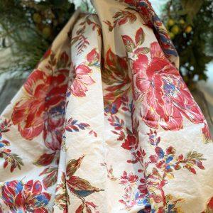 Vintage Large Floral Fabric