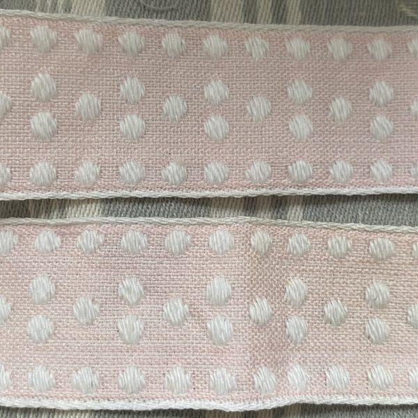 Close Up Detail vintage soft pink trimming
