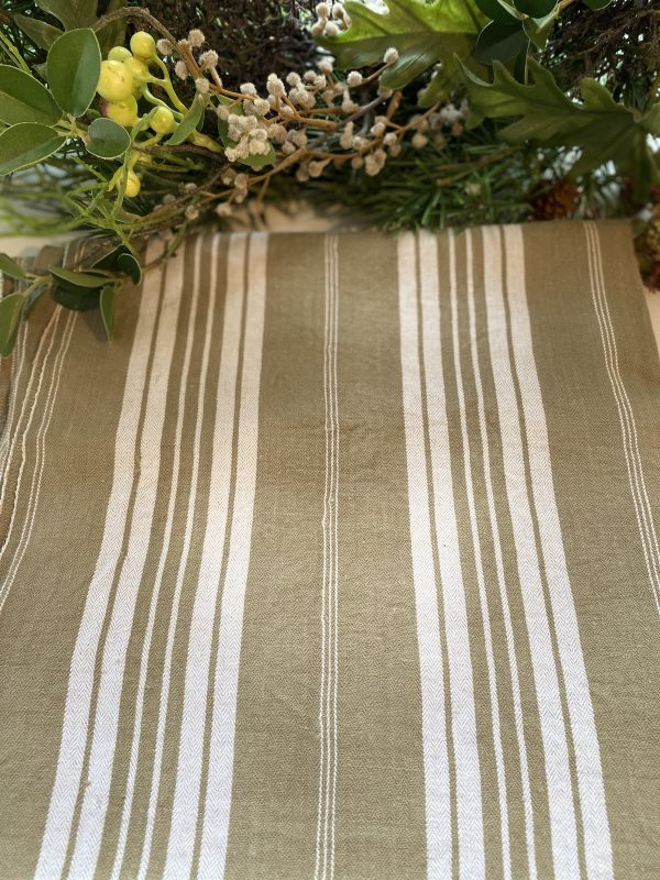 Vintage Brown Ticking French