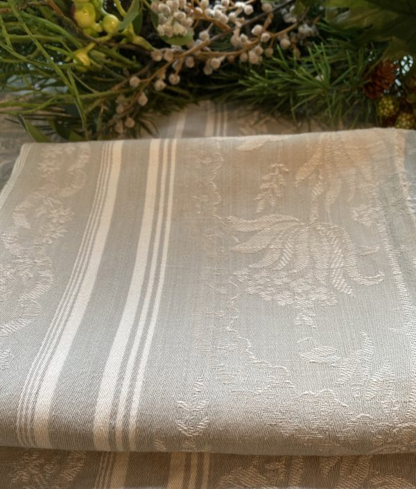 French Ticking Silvery Grey