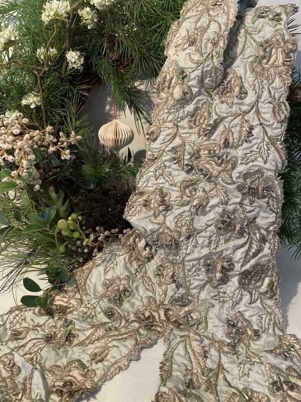 Vintage embellished textile