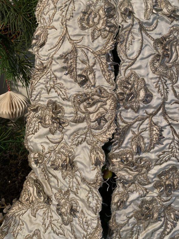 Vintage embellished textile detail