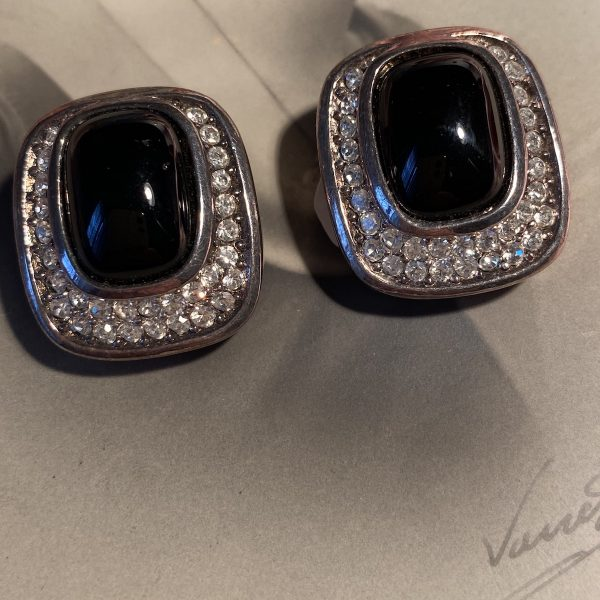 Christian Dior Diamante Earrings
