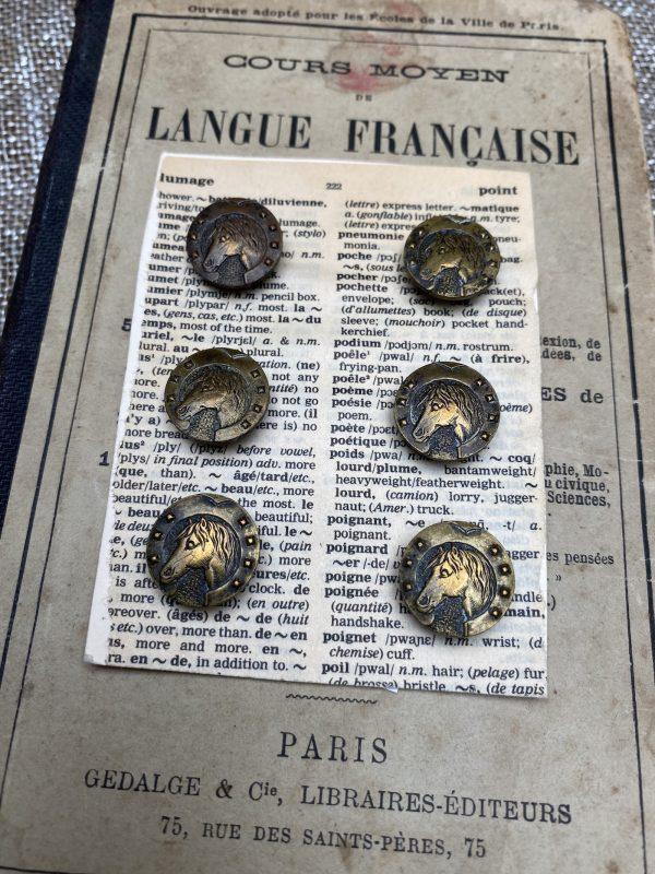 Vintage Horse Buttons