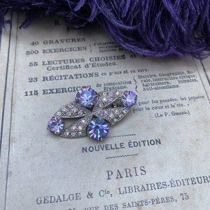 Diamante Brooch Aurora Borealis