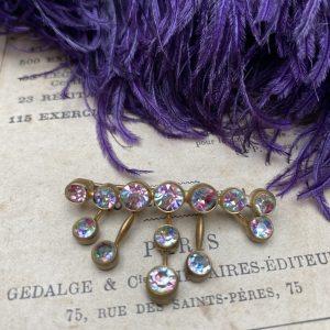 Vintage rainbow iris/watermelon brooch