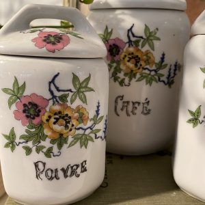 French ceramic storage jars