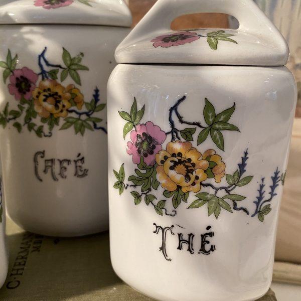 French ceramic storage jars