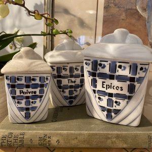 French Ceramic Storage Set