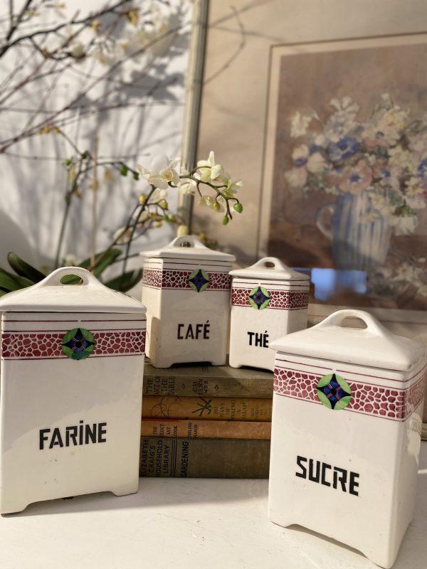 A set of French Ceramic Storage Jars