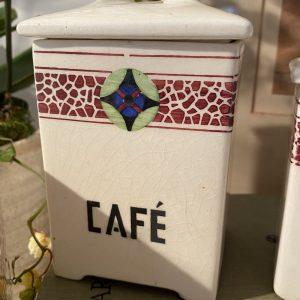 Café French ceramic kitchen storage