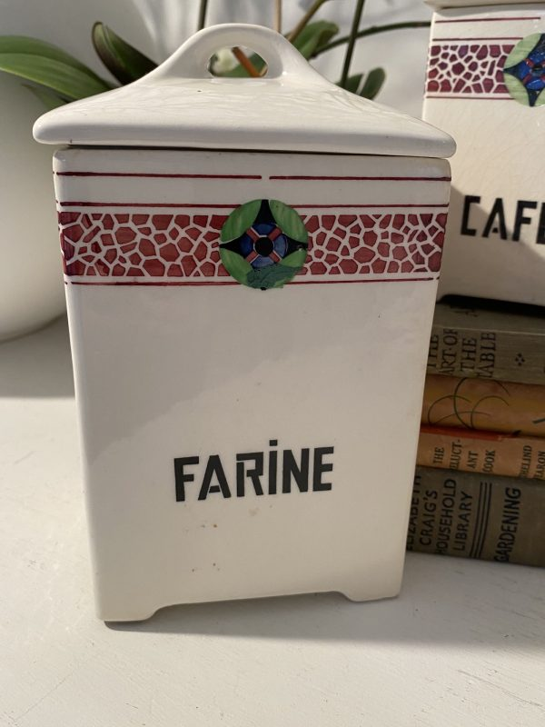 Farine French Ceramic Storage Jar