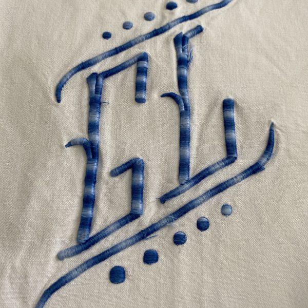 Vintage French Sheet Blue GL Monogram