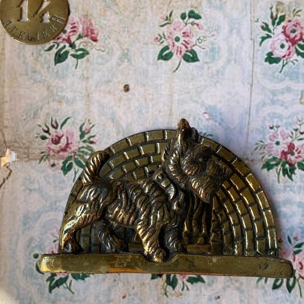 Brass Letter rack scotty dog