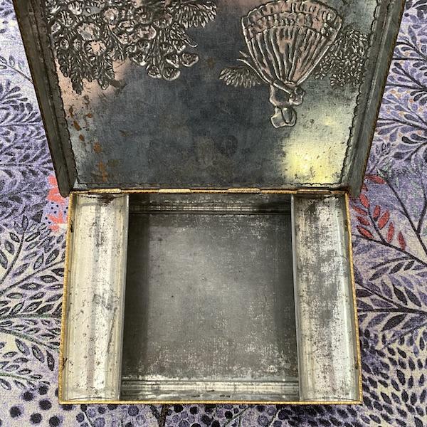Inside Vintage Metal Workbox